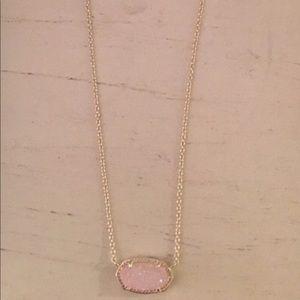 Kendra Scott, brand new light pink w/ silver chain